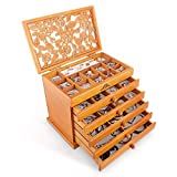 Kendal Real Wood/Wooden Jewelry Box Case JC866 (Light Brown)