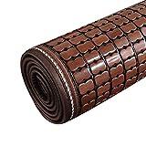 Chair Mats Sofa Cushions for Summer Cool pad Sofa mat Non-Slip Cloth Art Cushion Furniture Accessories (Color : Brown, Size : 5050cm/2020 inch)