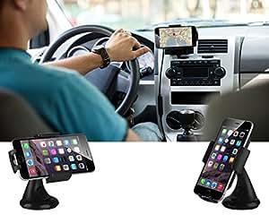 Universal coche elegante soporte 360 Degree rotaría para GPS, Smartphones para Asus Memo Pad 8 ME581CL, Asus Fonepad 8 FE380CG, Asus Fonepad 7 FE375CXG, Asus Fonepad 7 FE170CG, Asus PadFone X, Asus PadFone S, Asus PadFone Infinity Lite