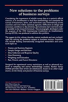 Amazon com: Business Survey Methods (Wiley Series in