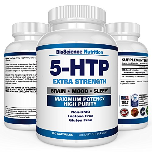 5 Htp 200 Mg Supplement   120 Capsules   Bioscience Nutrition
