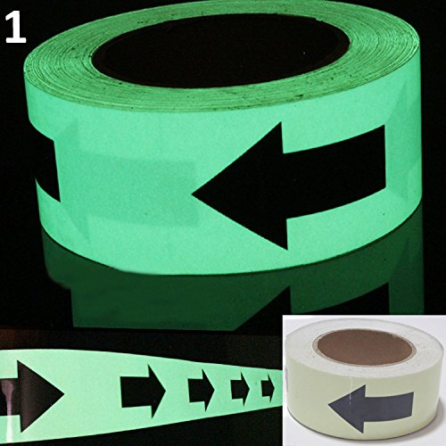 Luminous Glow In The Dark Tape Safety Self-adhesive Stage Home Design Decals (5cm x 5m, Green Arrow) by bearfire (Image #5)