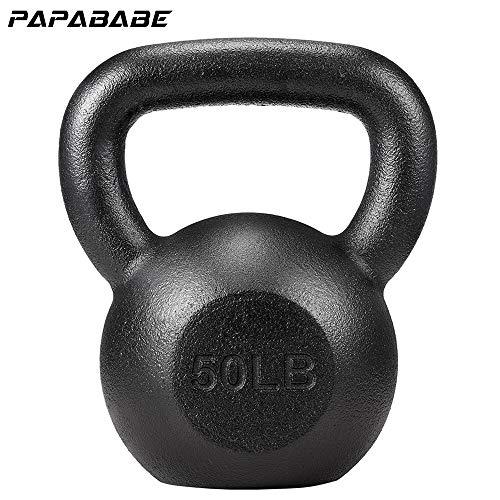 PAPABABE Kettlebell Weights Cast Iron Kettlebell Weight Set Hand Weights Man Women Homge Gym Weight Ball Kettle Bells Deadlift Squat