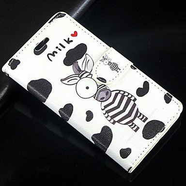 Cartoon zebra pattern PU Leather Full Body Wallet Protective Case with Stand for Huawei Ascend P6 ( Compatible Models : P8 Lite )