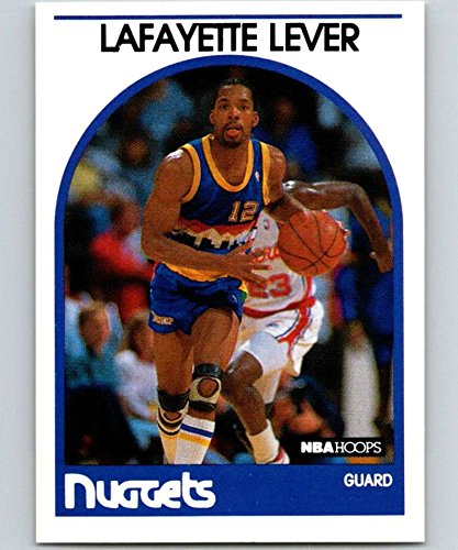 - 1989-90 Hoops Basketball #220 Lafayette Lever Denver Nuggets Official NBA Trading Card