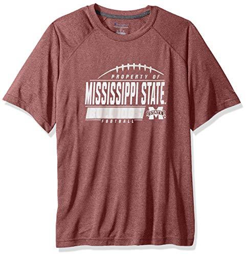 NCAA Mississippi State Bulldogs Mens NCAA Men's Short Sleeve Football Season Jersey Teechampion NCAA Men's Short Sleeve Football Season Jersey Tee, Maroon, -