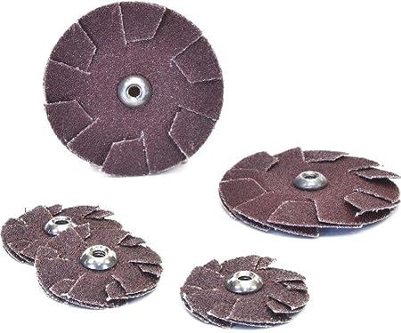 1-1//4-Inch Diameter by 8-32 Eyelet 100-Pack 240-Grit Arc Abrasives 33976-1 Spin-On Overlap Discs