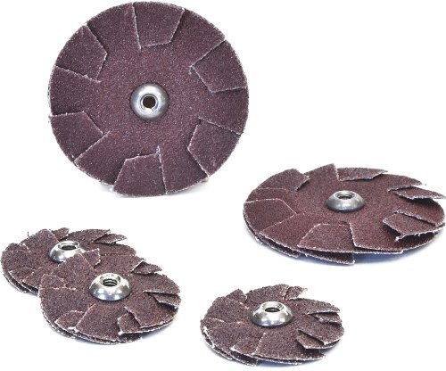Arc Abrasives 34630 Spin-On Overlap Discs, 80 Grit, 3-1/2-Inch Diameter, 100-Pack by ARC Abrasives
