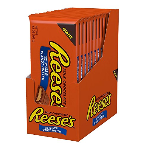 REESE'S Peanut Butter Chocolate Candy Bar, Halloween Candy,