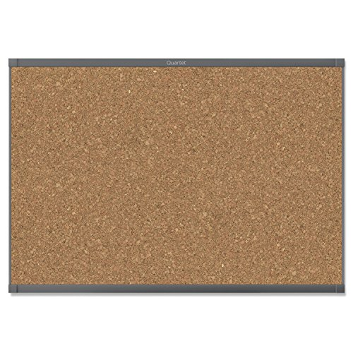 Quartet Prestige 2 Magnetic Cork Bulletin Board, 8' x 4', Graphite Finish Aluminum Frame (MC248GP2) by Quartet