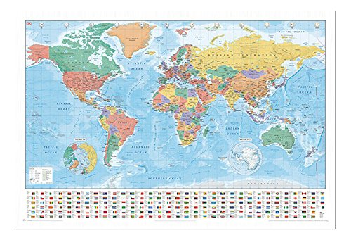 World map with facts flags pinboard cork board with pins world map with facts flags pinboard cork board with pins framed in white gumiabroncs Images