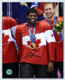 2014 iihf canada jersey - P.K. Subban Team Canada Autographed 2014 Olympic Gold Medal 8x10 Photo