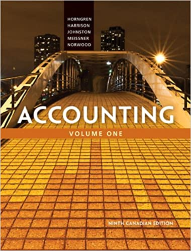 Accounting, Volume 1, Canadian Edition