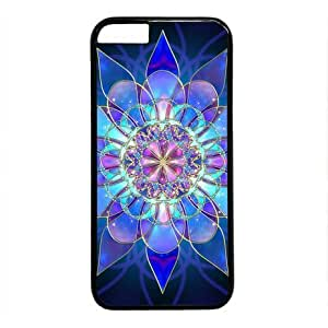 "Lilyshouse Blue Fractal Art Flower Hard Shell with Black Edges Cover Case for Iphone 6 Plus(5.5"")"
