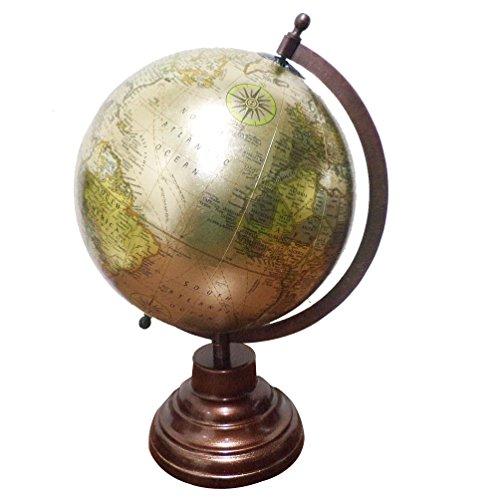 Imlistreet Vintage Style Antique Desktop Globe World Earth Geography Political - World Globe Jewel