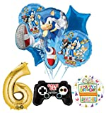 Mayflower Products The Ultimate Sonic The Hedgehog 6th Birthday Party Supplies Balloon Decorations