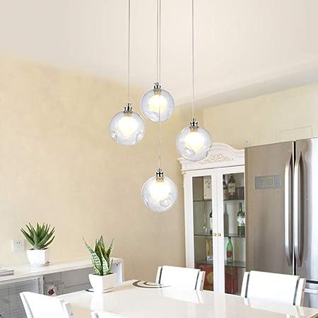 Lámpara de 4 luces moderno minimalista Escalera de techo Sala de Arte luz de la bola