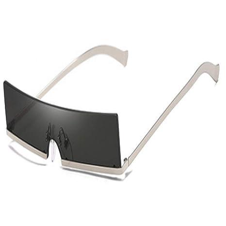 Yangjing-hl Gafas de Sol rectangulares pequeñas de Medio ...