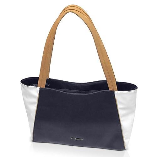 bcc696419442 Women Woman Bag Handbag Purse Casual Resistant California Handbag 4218A  Tote Bag Vinyl Navy Blue Offer