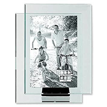 double glass frame floats your photo by sixtrees 4x6 - Double Glass Picture Frame