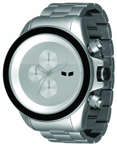 Vestal Men's ZR3010 ZR-3 Minimalist Oversized Matte Silver Chronograph Watch