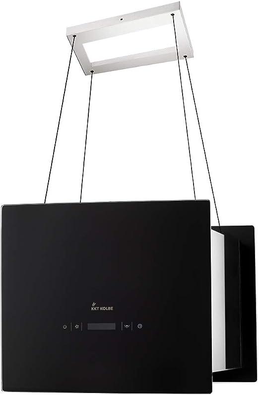 Campana extractora de diseño en isla (40 cm, acero inoxidable, cristal negro, extra silenciosa, 4 escalones, iluminación LED, teclas de sensor TouchSelect) BOX400S - KKT KOLBE: Amazon.es: Hogar
