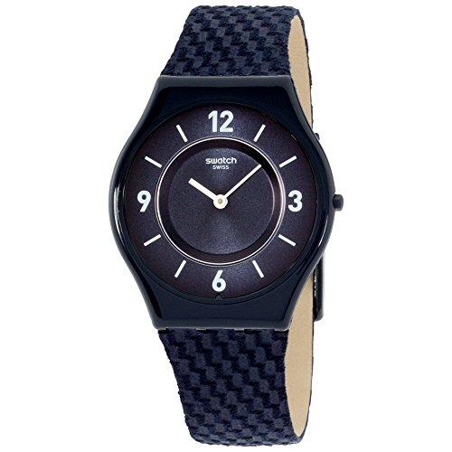 Swatch Skin Blaumann Blue Dial Nylon Strap Ladies Watch SFN123