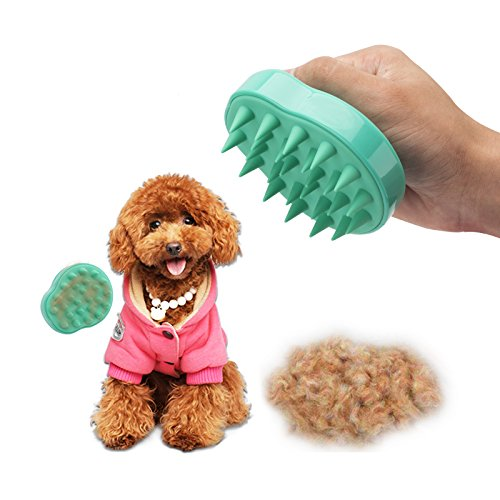Silicone Pet Grooming Brush Pet Remover Hair Cleaning Bath Comb Rubber Shower Brushes Masssage brush for Dog and Cat Shedding NO Scratching