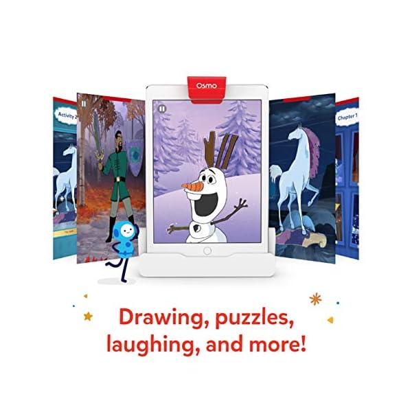 Osmo Essence Super Studio Disney Frozen 2 Game – Et 5-11 – Imparare a disegnare Elsa, Anna, Olaf & More Favorites & Guarda Come to Life – per iPad & Fire Tablet Base necessaria 3 spesavip