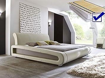 Polsterbett Beige Komplett Bett 160x200 Lattenrost