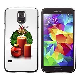 YOYO Slim PC / Aluminium Case Cover Armor Shell Portection //Christmas Holiday Candles 1247 //Samsung Galaxy S5