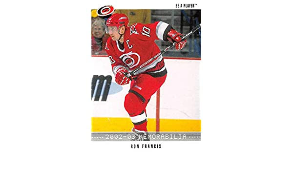 67838c076 Amazon.com  2002-03 Be A Player Memorabilia Hockey  61 Ron Francis Carolina  Hurricanes Official NHL Card by ITG In The Game  Collectibles   Fine Art