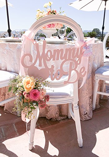 Baby Shower Chair Sign Mommy to Be Wooden Cutout in Custom Colors for Baby Shower Decoration for New Mom Pink Blue -