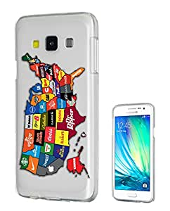 c0162 - North America Commercial Map Design Samsung Galaxy J1 Fashion Trend CASE Gel Rubber Silicone All Edges Protection Case Cover