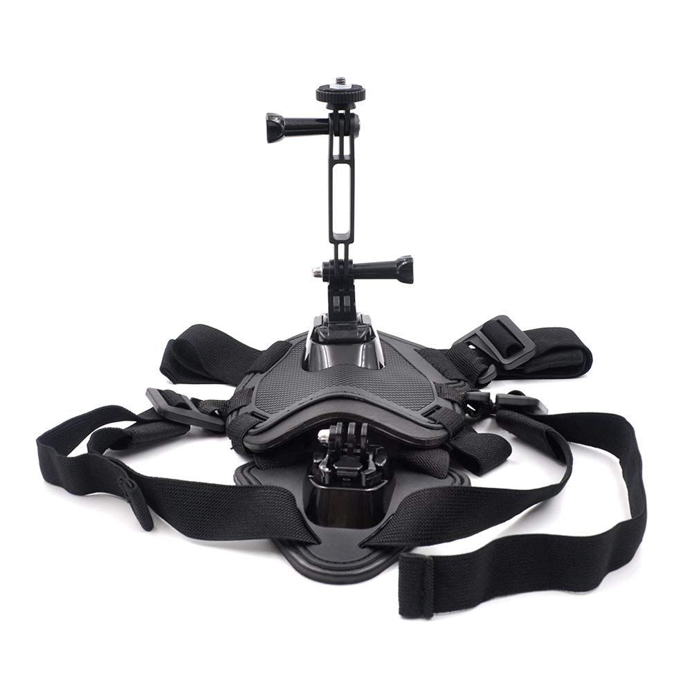 Leslaur STARTRC Pets Dog Harness Mount Adjustable Chest Strap Shoot Picture and Video for Insta360 ONE X/EVO Action Camera