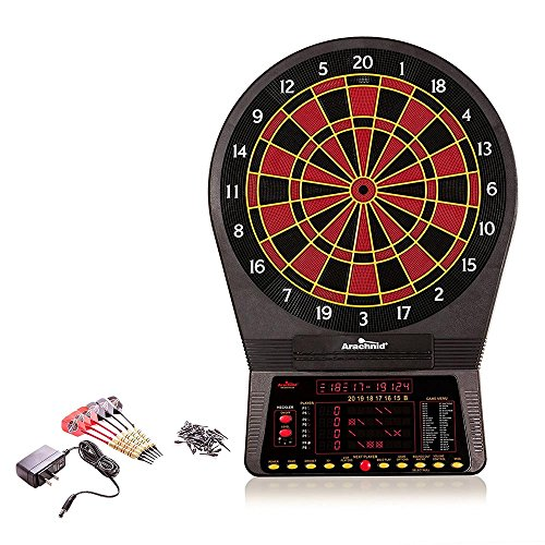 800 Electronic Dartboard with NylonTough Segments for Improved Durability and Playability and Micro-thin Segment Dividers for ReducedBounce-outs (Arachnid Electronic)