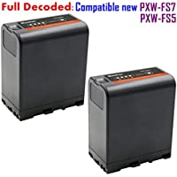 [Fully Decoded] Kastar BP-U66 Battery (2-Pack) for Sony BP-U90, BP-U60, BP-U30 work for Sony PXW-FS5, PXW-FS7, PXW-X180, PMW-100, PMW-150, PMW-150P, PMW-160, PMW-200, PMW-300, PMW-EX1, PMW-EX1R, PMW-EX3, PMW-EX3R, PMW-EX160, PMW-EX260, PMW-EX280, PMW-F3, PMW-F3K, PMW-F3L, XDCAM EX, HD422 Camcorders