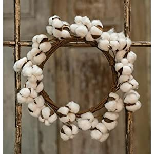 "Heart of America Cotton Ball Wreath - 12"" 98"
