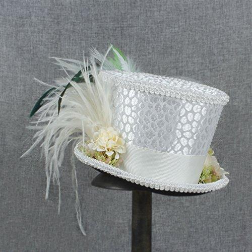 Mini Las Derby Copa Sombrerero Blanco Kentucky El Sombrero Blanco sombrero Maravillas De Scsy En Loco Alicia País Novia wqvISHA