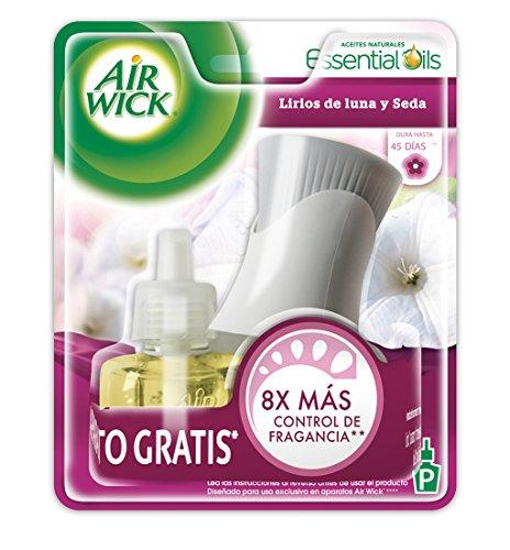 Air Wick Aromatizante de Ambiente Continuo, Aparato Eléctrico y Repuesto, Lirios de Luna y Seda, 21ml