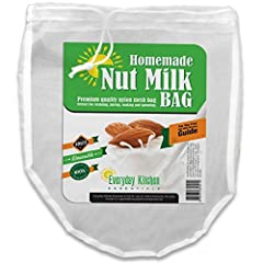 Cotton Material with OE Certification: Entirely 100% Organic! 2 Pack of Nut Milk Bags - Double Stitched for Maximum Durability with a Premium Quality Weave Creates the smoothest, easiest, preservative-free almond milk at home! These mesh stra...