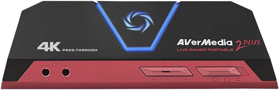 Capturadora de juegos para streamers AVerMedia Live Gamer Portable 2 Plus - 4K