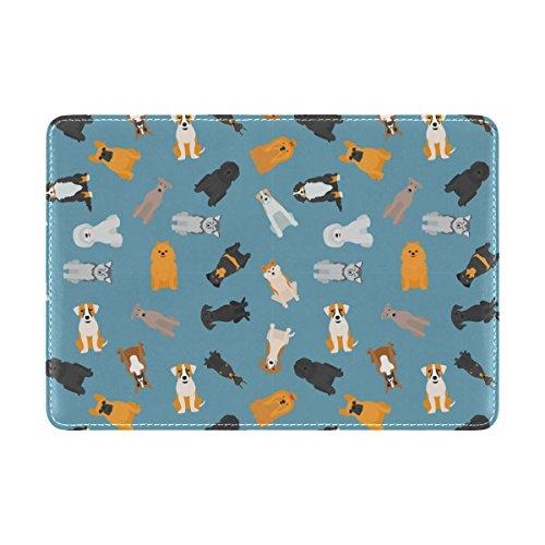 Coosun verschiedene Hunde Breed Pattern Leder Passhülle Cover für Travel One Pocket