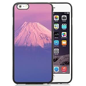 Beautiful Designed Antiskid Cover Case For iPhone 6 Plus 5.5 Inch Phone Case With Fujiyama Japanese Mountain Purple Sky_Black Phone Case