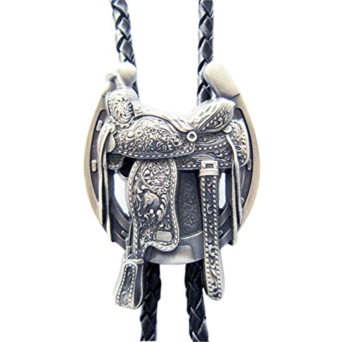 Vintage Western Saddle Horseshoe Cowboy Boots Bolo Tie also Stock in (Boot Bolo Tie)