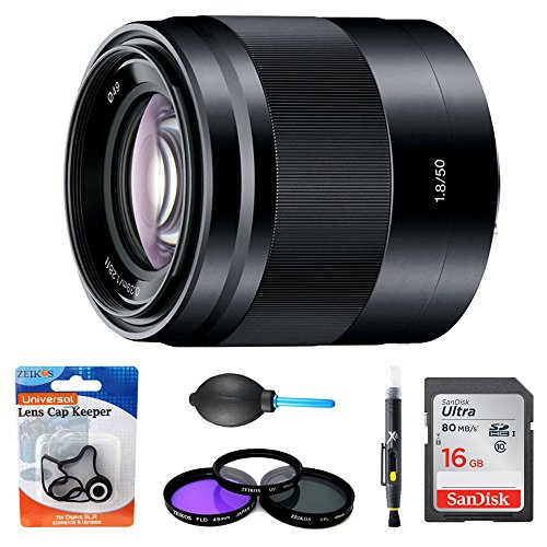 Sony SEL50F18/B - 50mm f/1.8 Mid-Range Prime E-Mount Lens Essentials...