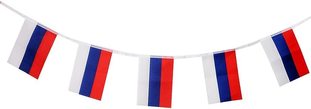 Sharplace Bandera Nacional de España / Rusia / Canadá / Australia / Alemania / Brasil / Varios Países para Selección - 9 Metros (30 pcs Rusia): Amazon.es: Juguetes y juegos