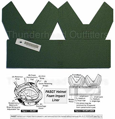PASGT Helmet Foam Impact Liner by US Army (Impact Foam)