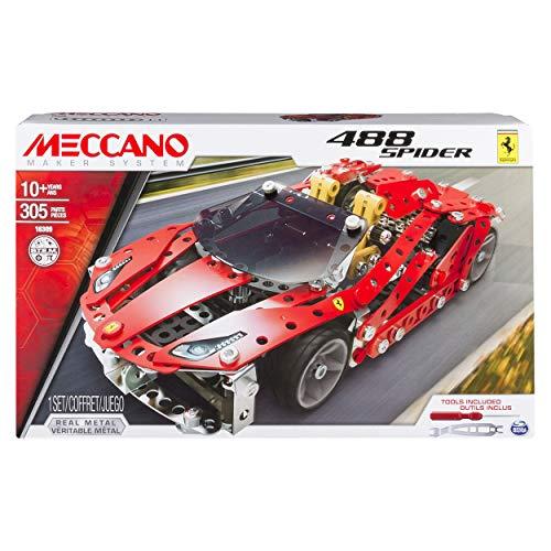 Meccano-Ferrari 488 Spider Model, No Batteries Required, 306