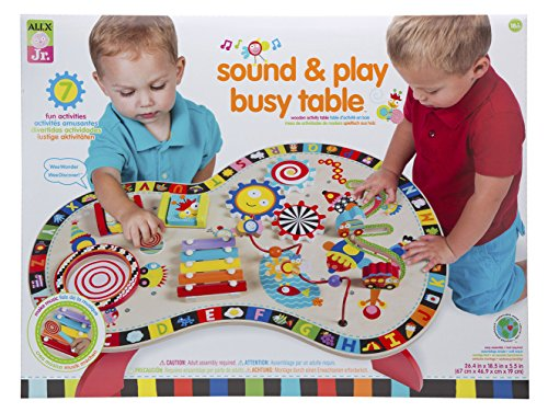 ALEX Jr. Sound and Play Busy Table (Wood Activity Table)